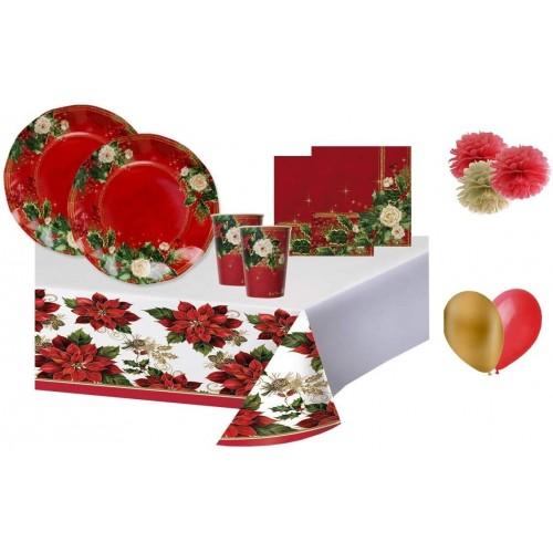 Kit per 8 invitati a tema Natale, stampe colorate ed eleganti