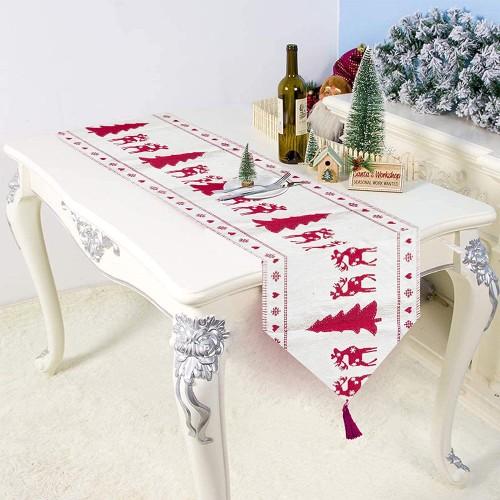 Runner da tavola di Natale con ricami, decorazione per la tavola