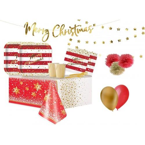 Coordinato tavola completo a tema Merry Christmas