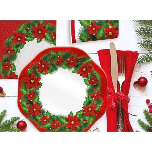 Kit 8 persone Christmas Time, coordinato tavola