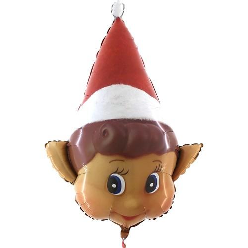 Palloncino Elfo di Natale in alluminio, per feste