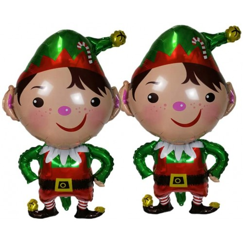 Set 2 Palloncini Elfo di Natale in mylar, per feste