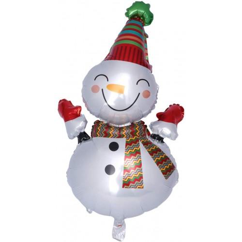 Palloncino Pupazzo di neve di natale, airwalker in alluminio