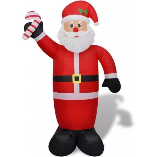 Palloncino Babbo Natale da 240 cm, gigante, gonfiabile, con luci a led