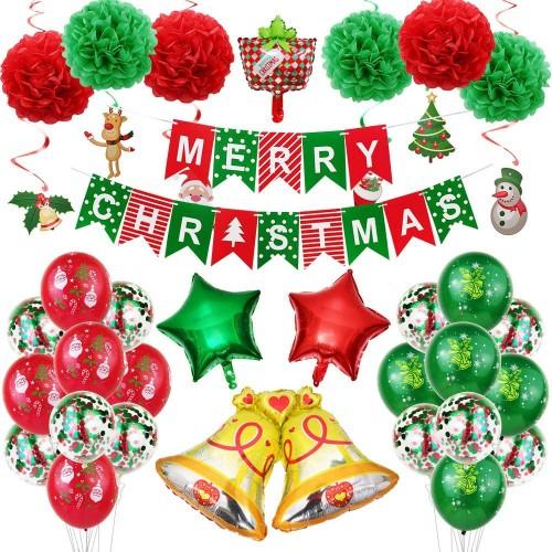 Allestimento palloncini di Natale, completo, 31 articoli