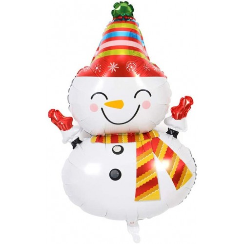 Palloncino natalizio Pupazzo di Neve in alluminio