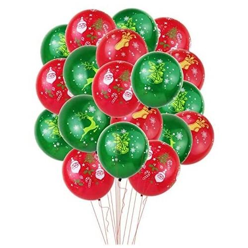 Set 30 palloncini Natalizi assortiti per feste
