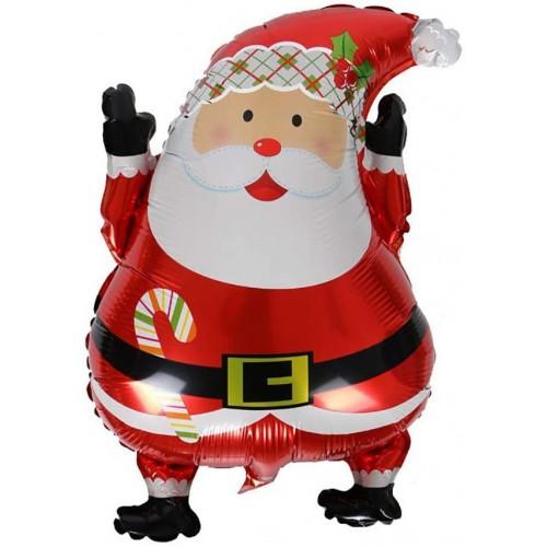 Supershape Babbo Natale, palloncino in alluminio