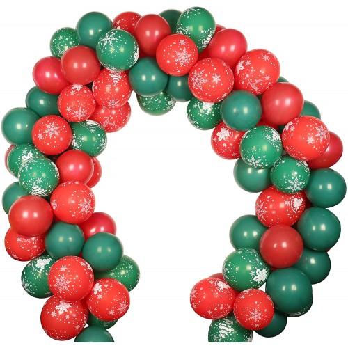 Arco di palloncini di Natale, 100 pezzi, in lattice, per feste