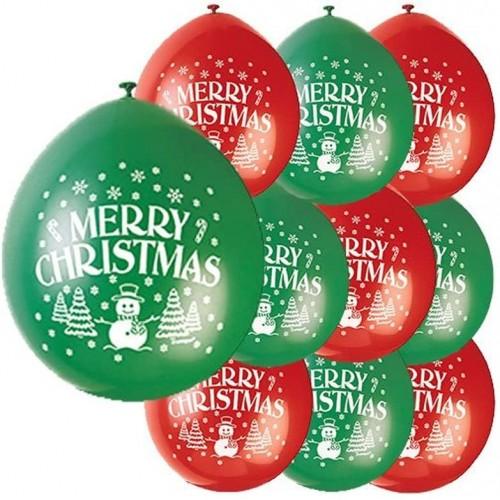 Set da 10 palloncini Marry Christmas da 22,9 cm, per Natale