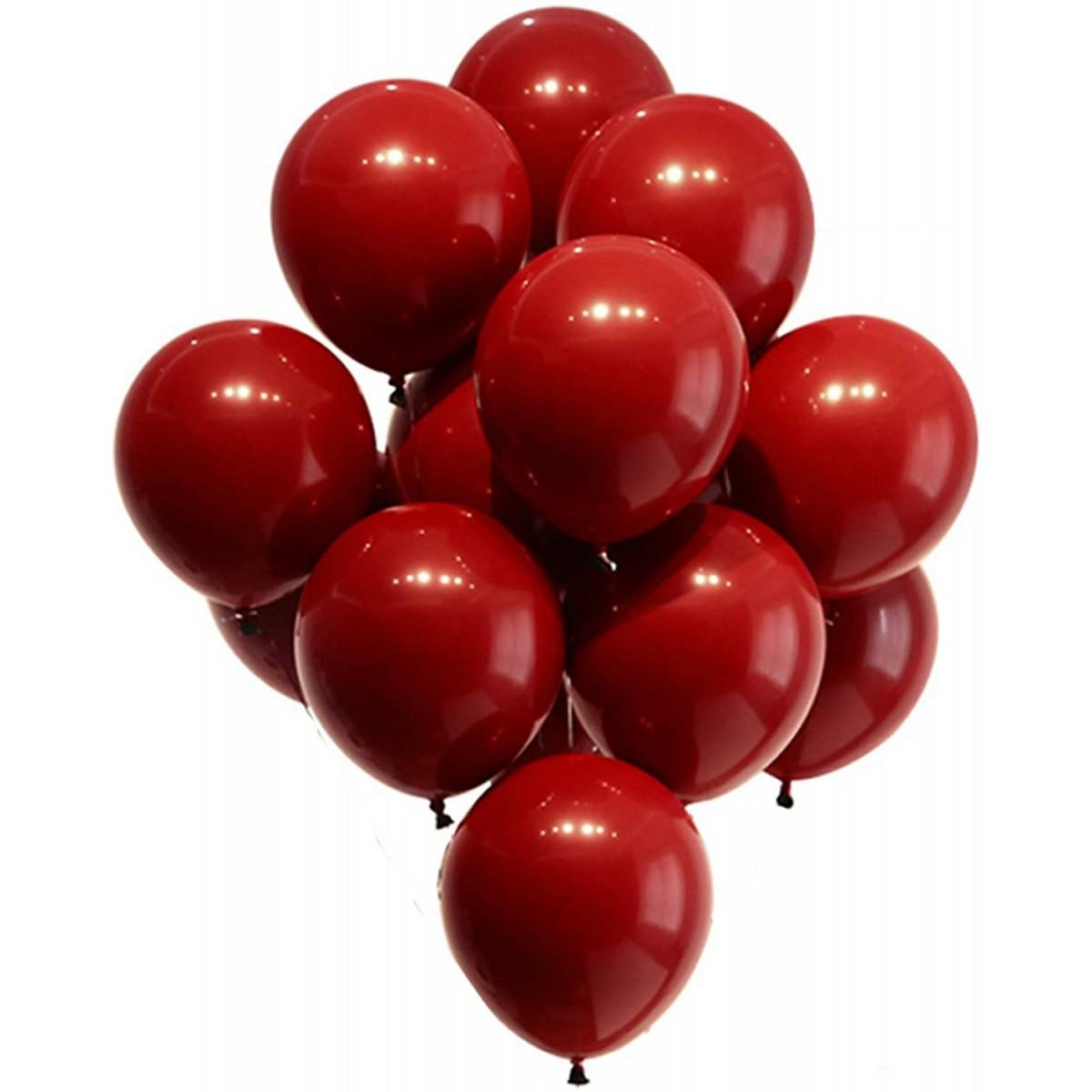 Set 100 palloncini rossi in lattice, per feste o Natale