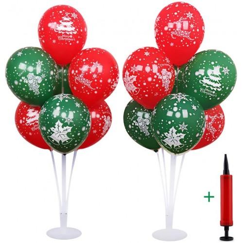 Set da 20 palloncini di Natale con stand, struttura a fontana