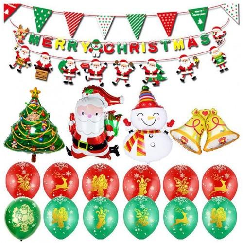 Set 21 addobbi di Natale, set per allestimenti