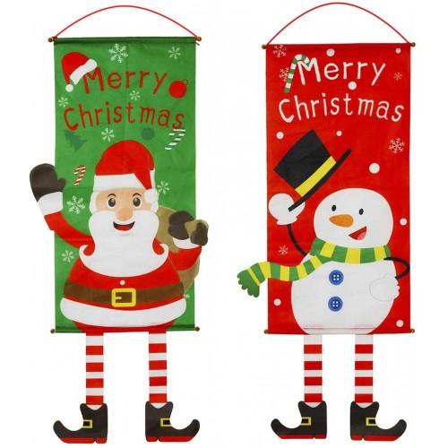 Set 2 Banner verticali di Natale, decorazioni per allestimenti