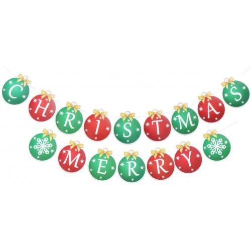 Striscione bandierine natalizie - Marry Christmas