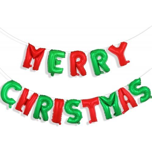 Set 16 Pollici festone Merry Christmas, banner da appendere
