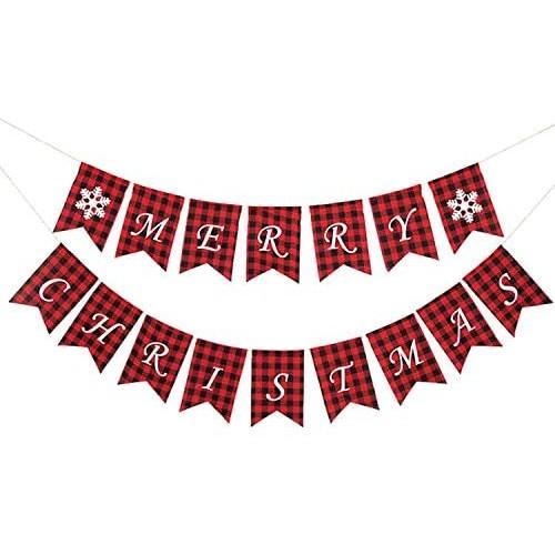 Banner di Natale Merry Christmas, decorazione da appendere