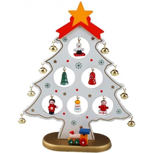 Centrotavola mini albero di Natale in legno, decorazione tavola