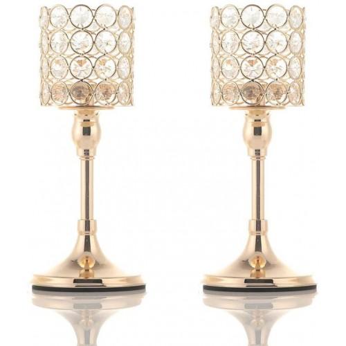 Portacandele in Cristallo oro argento, centrotavola Natalizio