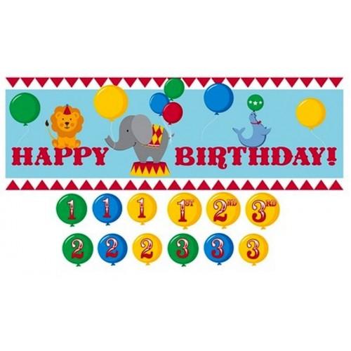 "Striscione compleanno Circo ""Happy Birthday"""