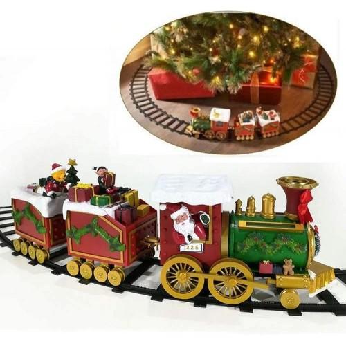 Trenino Elettrico con 2 vagoni, Babbo Natale con doni