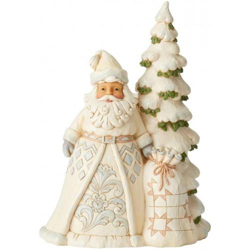 Mini albero di Natale con Babbo Natale da  27 cm, decorazione tavola