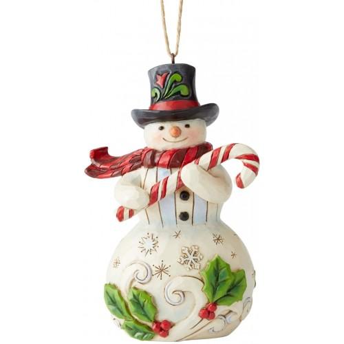 Statuina Pupazzo di Neve da 12 cm, decorazione per l'albero di Natale