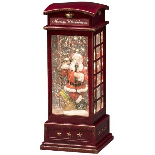 Lanterna a LED con Babbo Natale, centrotavola decorativo