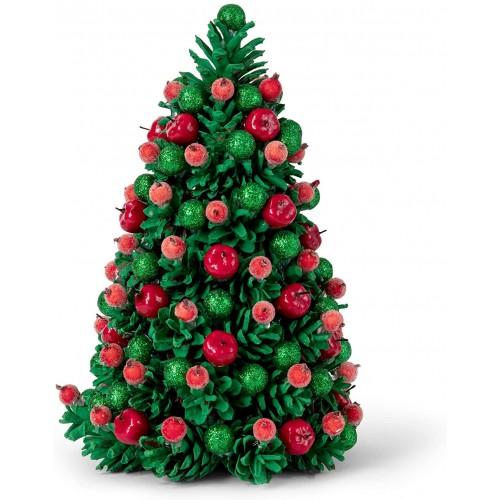 Mini abete di Natale, centrotavola, fatto a mano