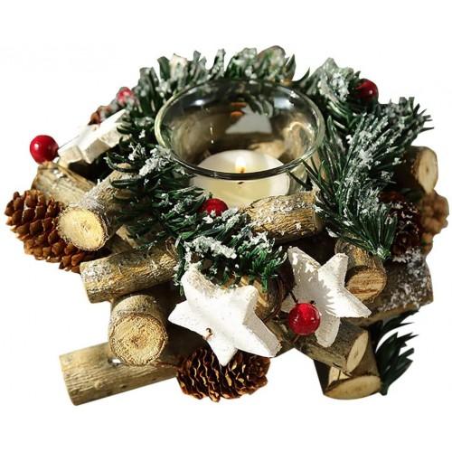 Centrotavola natalizio retrò ghirlanda di Natale