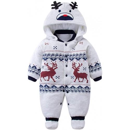 Vestito invernale per neonati Natalizio, pupazzo di Neve, con cappuccio