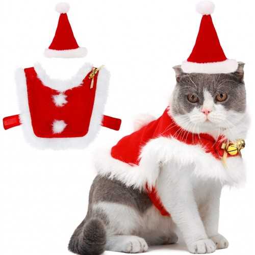 Costume natalizio per gatto, idea regalo, per animali domestici