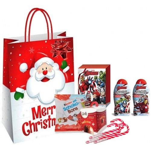 Idea Regalo Natalizia, set cioccolato Kinder + shopper