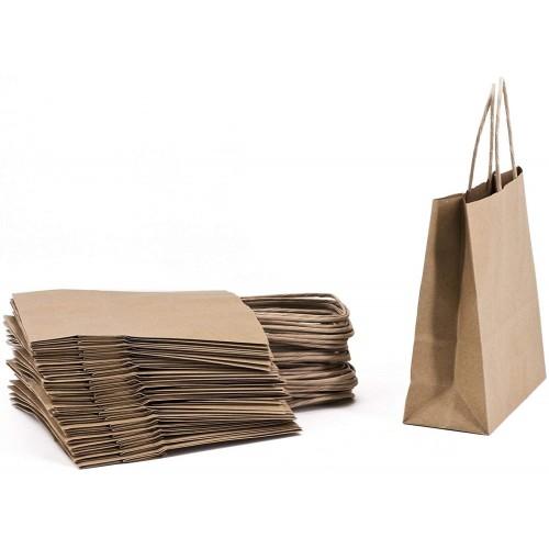 Confezione da 25 Shopper in carta Kraft, per regali originali