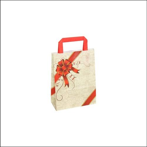 Set 50 Shopper, sacchetto Natalizio, a soffietto, per regali