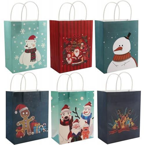 Set 24 Sacchetti carta regalo di Natale, originali e simpatici