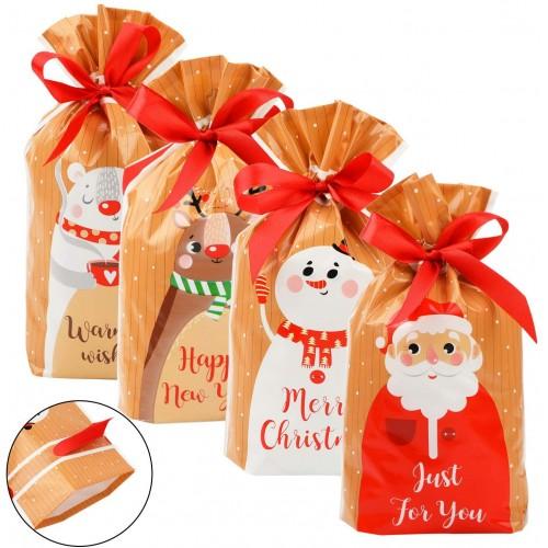 Set 30 Sacchetti regalo per Natale, piccoli doni