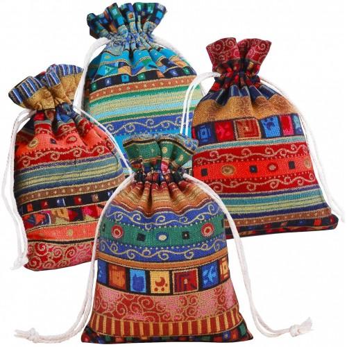 Set 12 sacchetto Regalo stile etnico, per regali