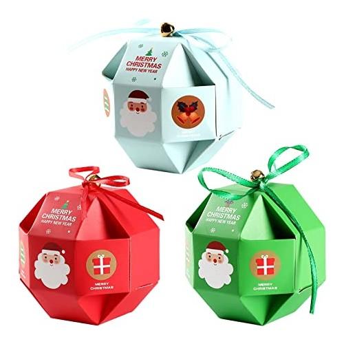 Set 12 scatole regali Natale, possono essere appese all'albero