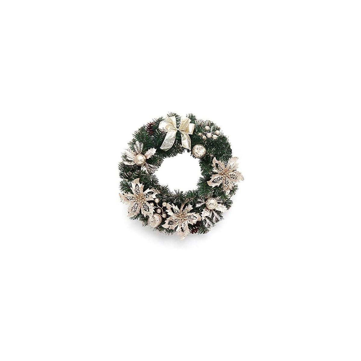 Ghirlanda con pino colore champagne, per decorazioni di Natale