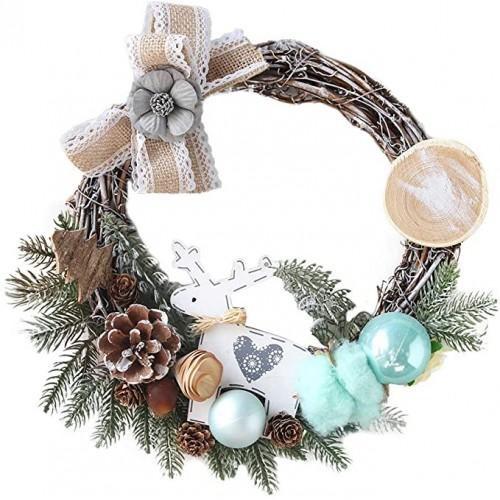 ❉ Ghirlanda natalizia vintage con fiori bianchi e decorazioni