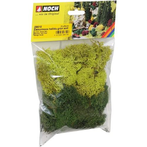 Sacchetto misto muschio e lichene verde da 35 gr
