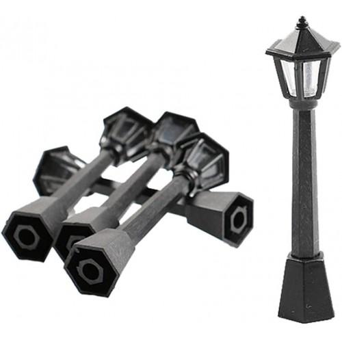 Set 10 lampioni in miniatura per presepe, scenografie varie