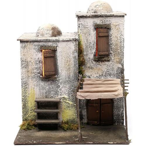 Modellino casa araba con tenda da presepe Napoletano