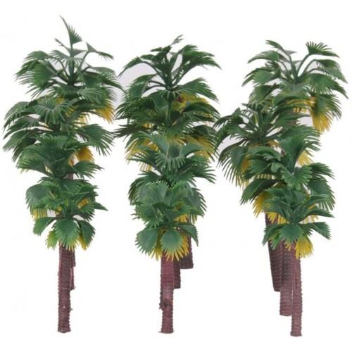 Modellini di palme in plastica, 12 pezzi, per presepe