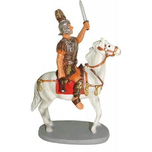 Statuina Soldato a cavallo per presepe Napoletano, da 10 cm