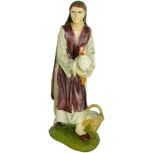 Statuina levatrice per presepe da cm 12, stile tradizionale