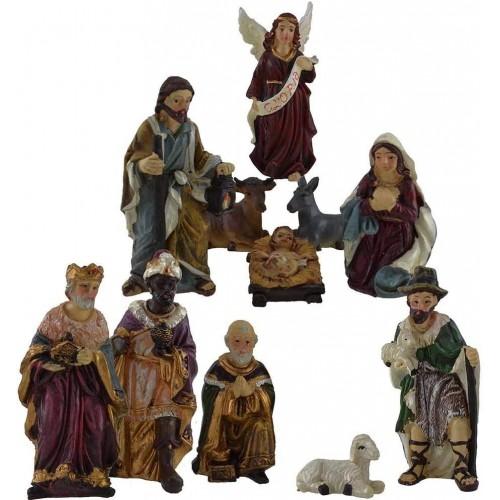 Set 11 statuine per presepe, natività completa, da 9 cm, in resina