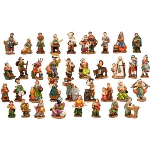 Set 36 Personaggi per presepe da 7 cm, realizzati in resina