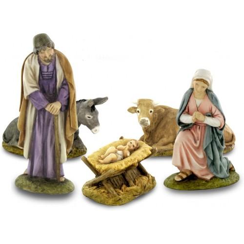 Statuine Natività da 10 cm in resina, set completo per presepe